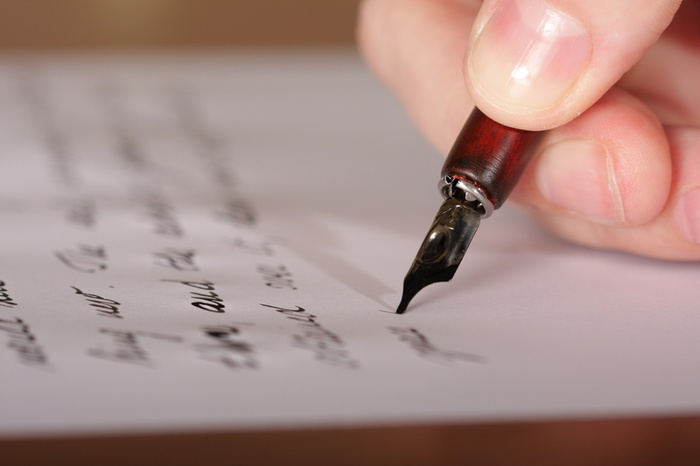 Writing with a pen