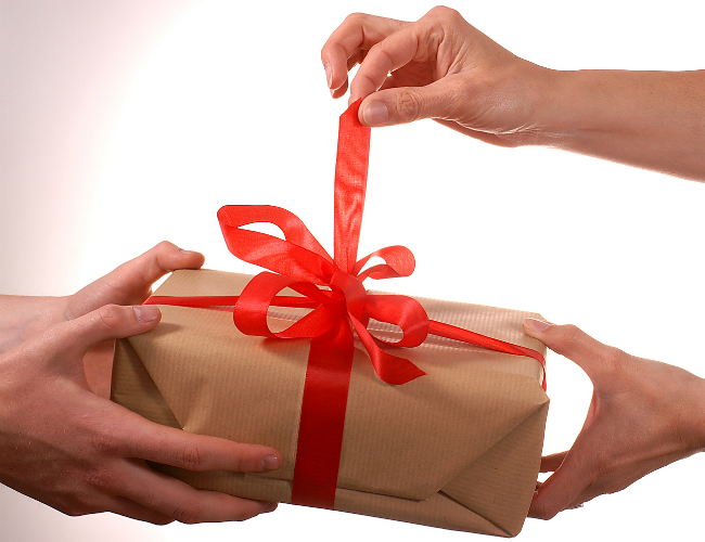 Taking a gift